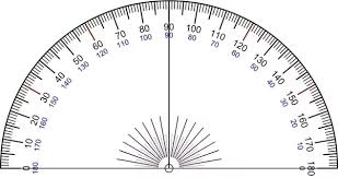 protractor to measure angles