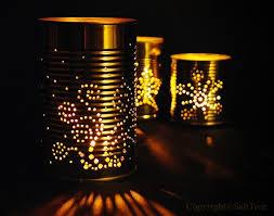 Lanterns made of tin cans