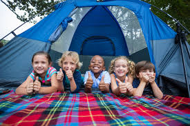 Tent camping for kids