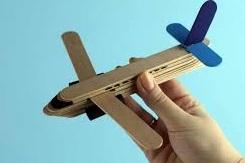 Popsicle stick aeroplane