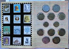 Coin and stamp collection