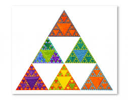 Sierpinski fractal triangle
