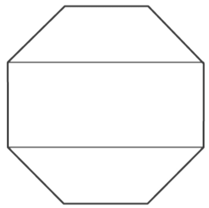 Draw a rough sketch of a regular octagon.