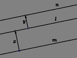 Constant distance between parallel lines