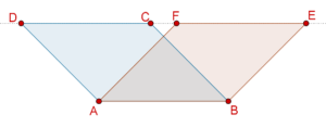 Parallelograms - same base same parallels