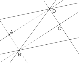 Two parallel lines intersected by transversal