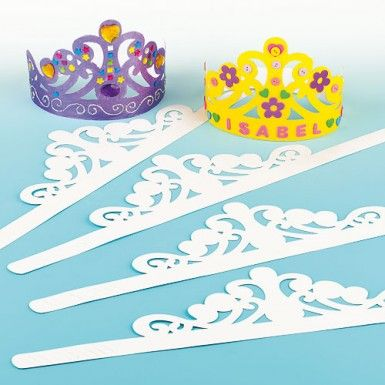 Paper tiaras and crowns