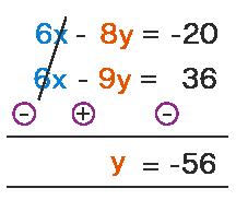 Elimination method example 3