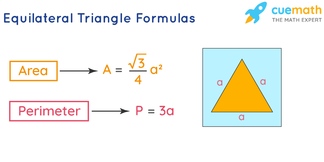 area and perimeter of equilateral triangle