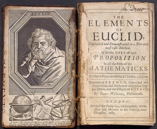 Euclid's elements : books written by euclid with theorems and postulates