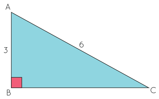 Solved example using 30-60-90 triangle