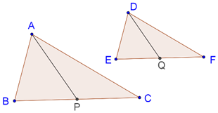 Medians of similar triangles are proportional