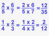 Multiplication of two or more fractions