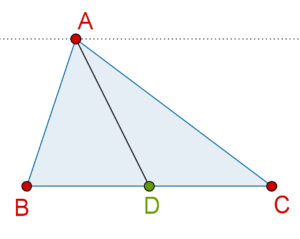 Median dividing a triangle