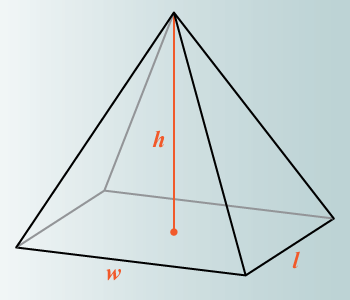 Volume of pyramid