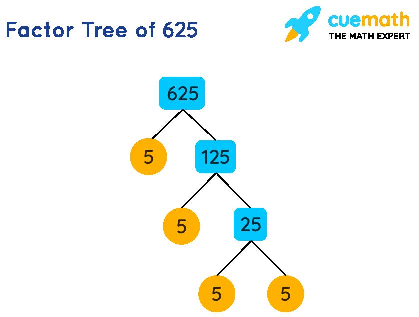 Factor Tree of 625
