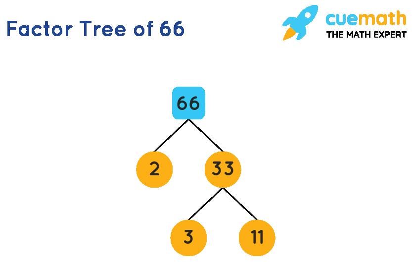 Factor tree of 66
