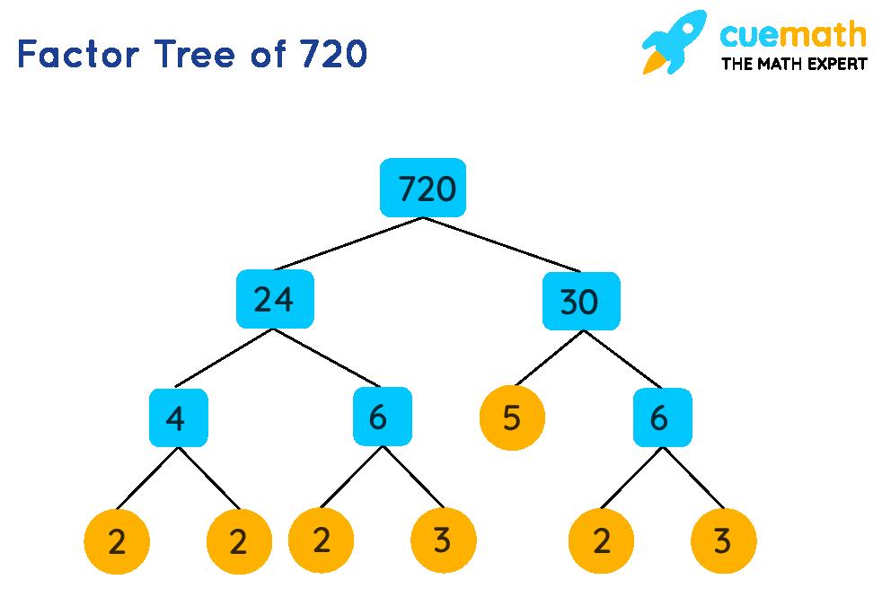 Factor Tree of 720