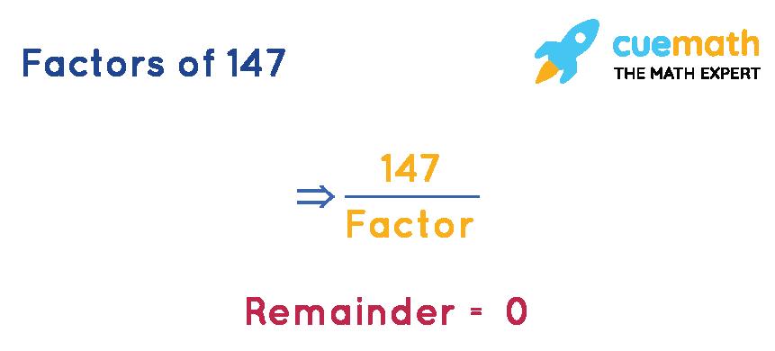 Factors of 147