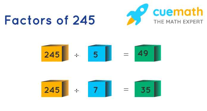 factors of 245 by division method
