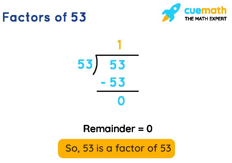 Factors of 53