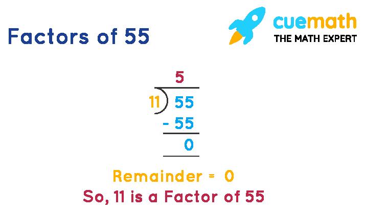 Factors of 55