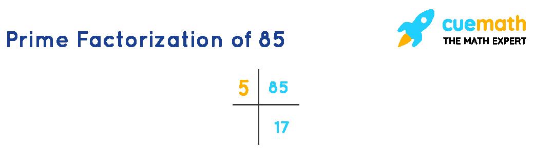 prime factorization of 85