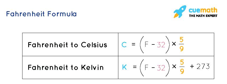Fahrenheit Formula