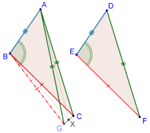 Vertex and base - Triangles