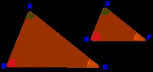 Equi-angular triangles
