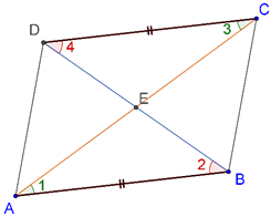 Parallelogram - opposite sides is equal and parallel