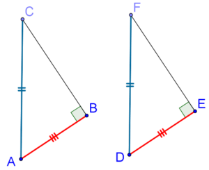 Right angle excluded - RHS Criterion