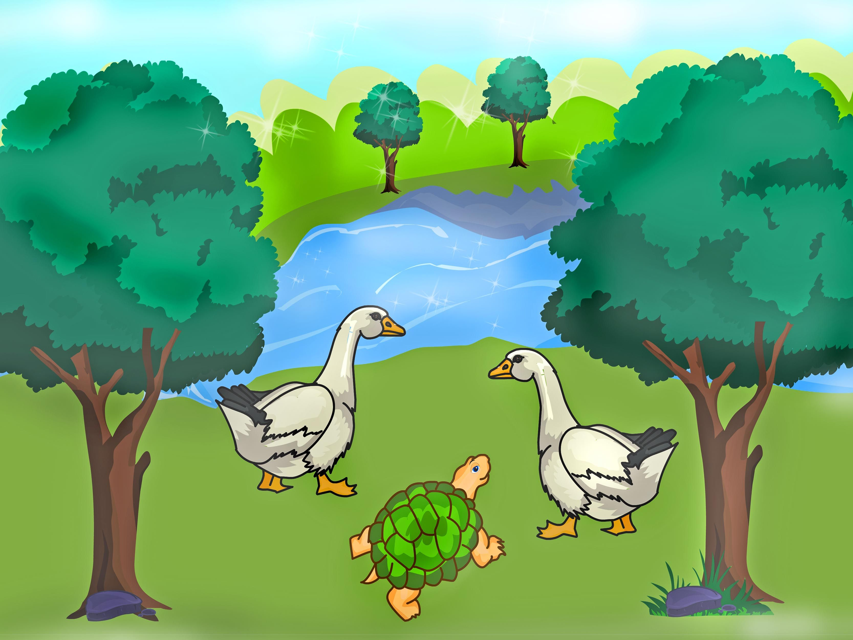 Tortoise and the geese