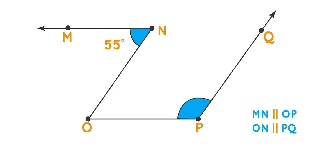 Alternate Interior Angle: Angle OPQ