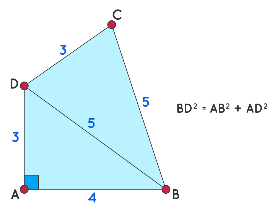 Finding Area of Quadrilateral using Heron's Formula