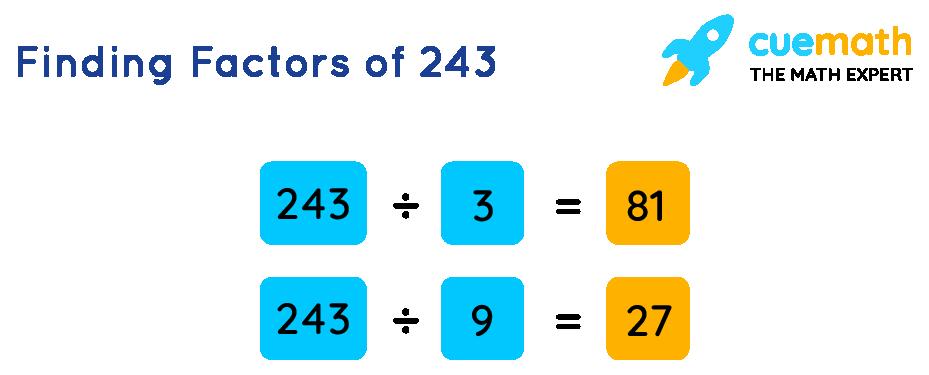 Finding Factors of 243