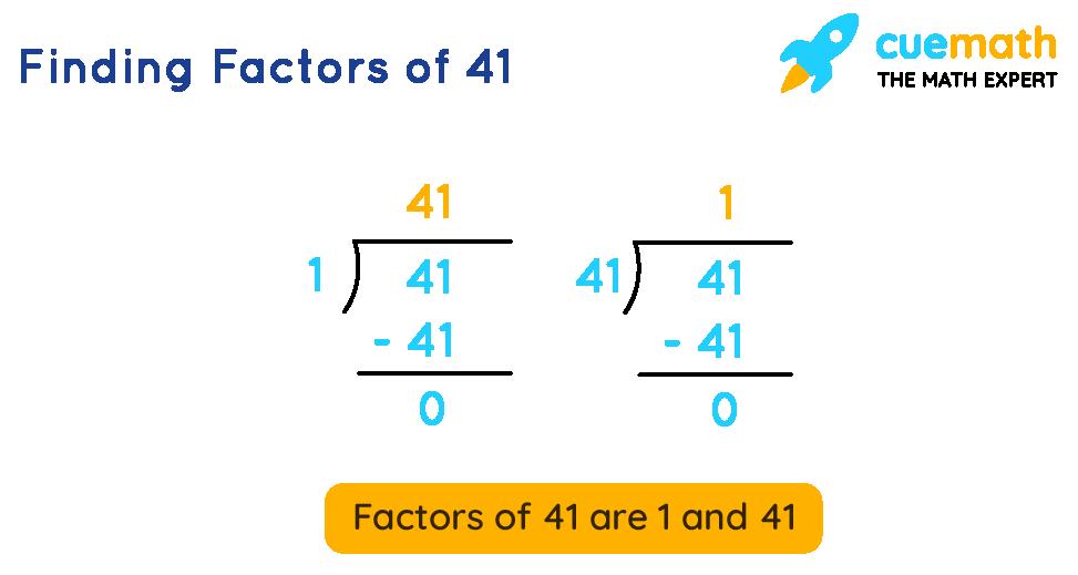 Finding Factors of 41