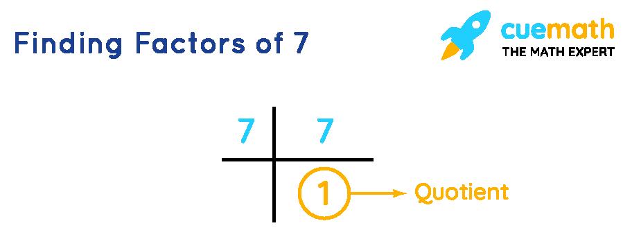 Finding factors of 7