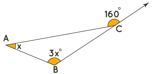 exterior angle theorem example