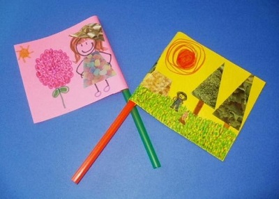 Flag Art: Making flags using your own creativity.