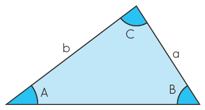 triangle angles A,B,C and sides a,b,c
