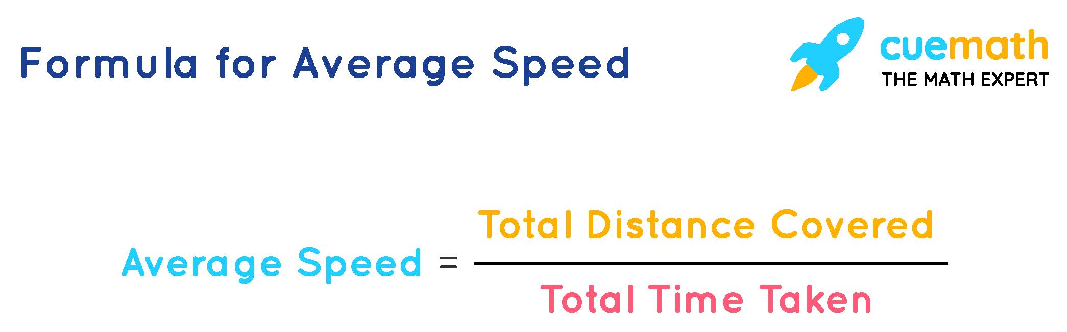 The average speed formula