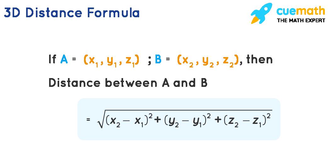 3 d distance formula