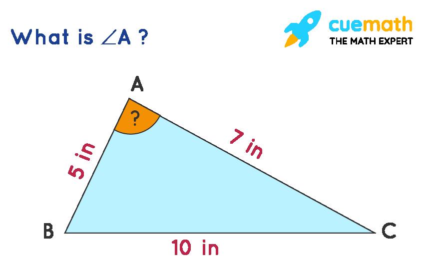 trig formulas problem using cosine rule