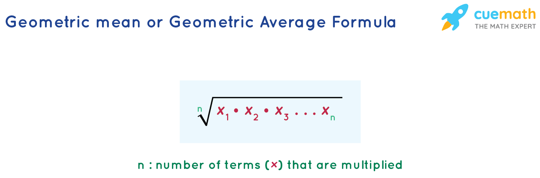 Geometric average formula