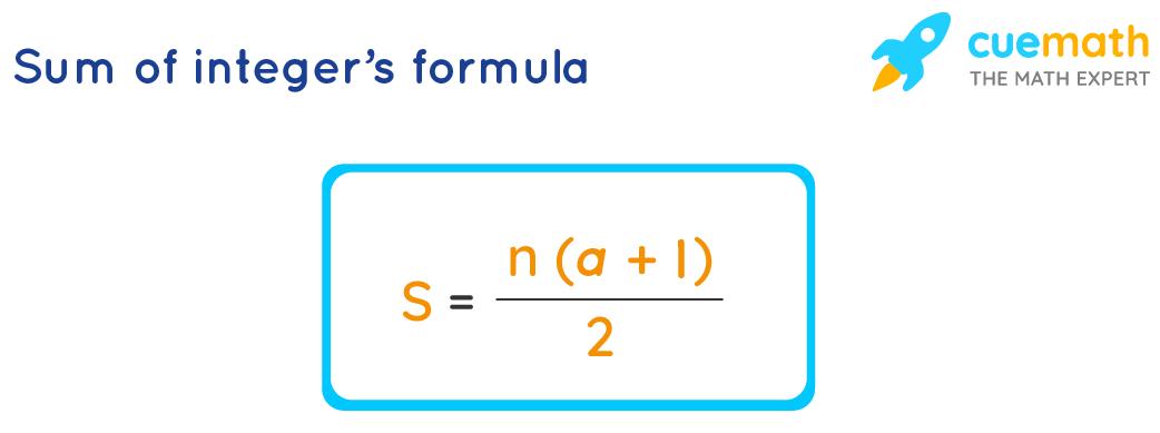 Sum of integer's formula