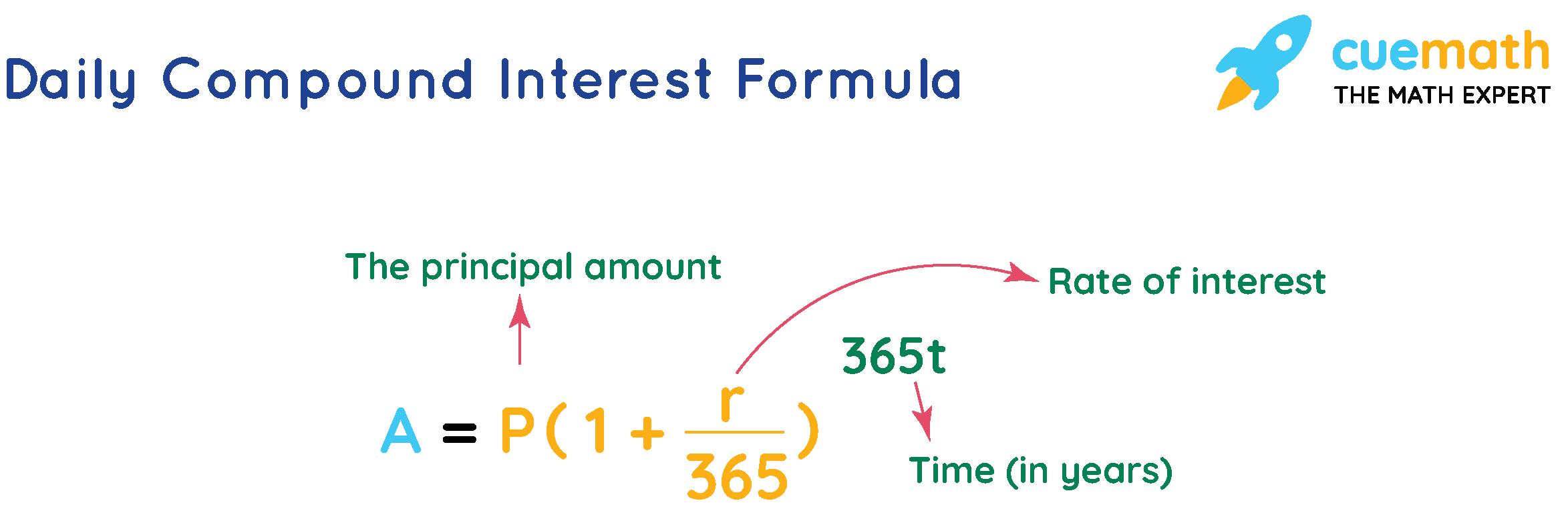 daily compound interest formula