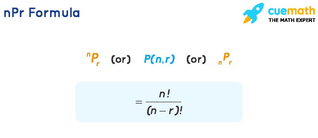 n P r formula is n factorial over n minus r all factorial