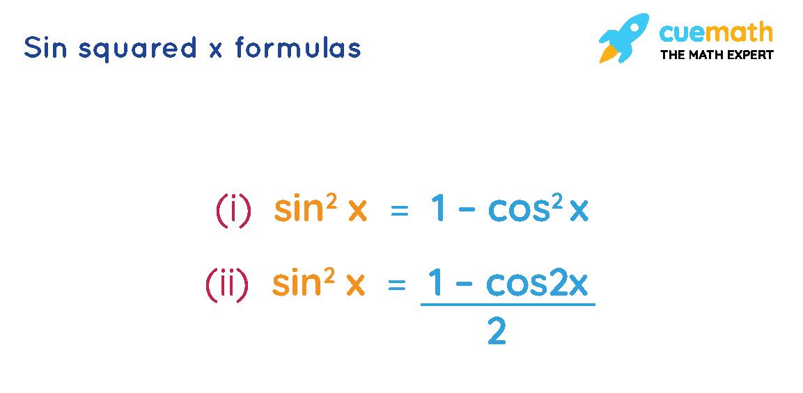 sin squared x formulas