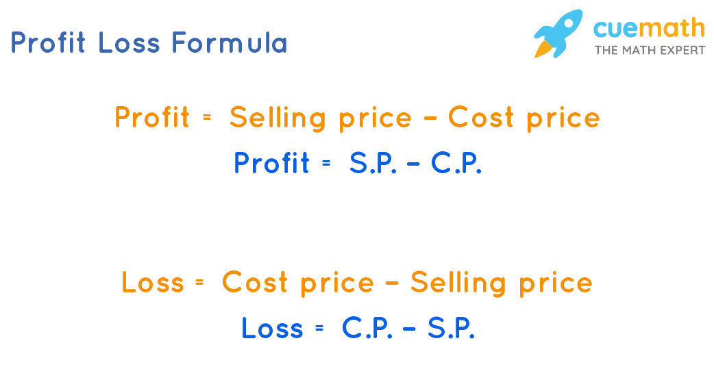 Formula to calculate profit or loss